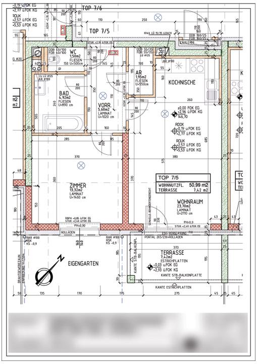 Polierpläne Zeichnen Wohnung Detailplan