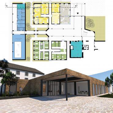 Kurhaus Entwurf Erweiterung